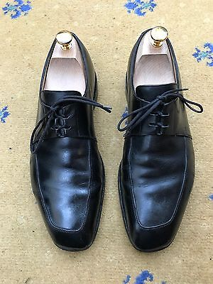 John Lobb Men's Black Leather Lace Up Shoes UK 9 US 10 EU 43 Caracus