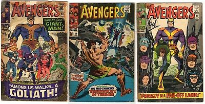 Avengers #28 30 39 readers low grade Silver Age inc. 1st Collector Don Heck