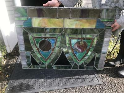 Nice Victorian Antique Original Stained Glass Window