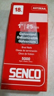 "Senco AX13EAA 1"" 25MM Galvanized Brad Nails 5000 Nails 18 Guage FREE SHIPPING"