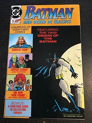 Batman And Other DC Classics#1 Incredible Condition 8.5(1989) Origin Of Batman