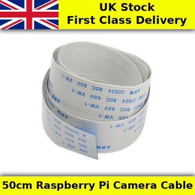 50cm Raspberry Pi Flexible Camera Cable FPC/FFC 15 Way - UK First Class