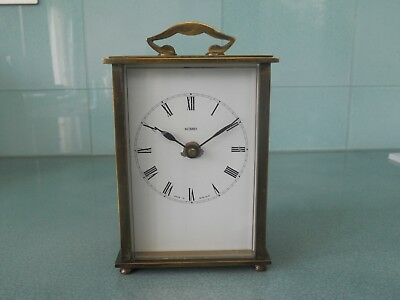 Antique Vintage Metamec Brass Carriage Clock - German Wind Up Movement 4 Jewels