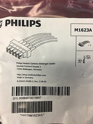 Philips 5 Lead ECG Cable - Reference: M1623A - New