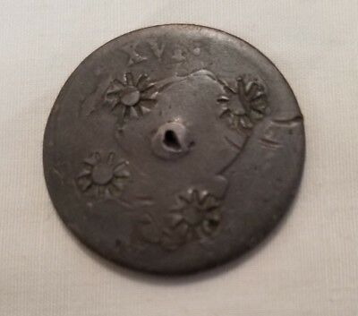 sun & rays countermark 1786 french colonial copper sol crab island puerto rico