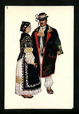 Costumes / Clothing postcard Costumes of Slovakia National Dress Artist Kirin