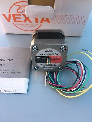 NEW Vexta PX244M-02BA Double Shaft Stepping Motor, Robotics, 3D Printer, CNC.