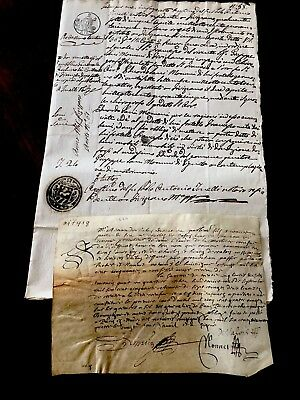 1600s Old Stamped Letter with a Parchment LOT