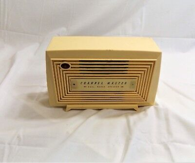 Vintage Channel Master Dual Range Auxiliary Speaker for Transistor Radios, Works