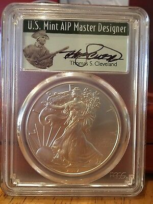 2017 (W) Silver Eagle Pcgs Ms70 Thomas Cleveland 'struck At West Point' Label