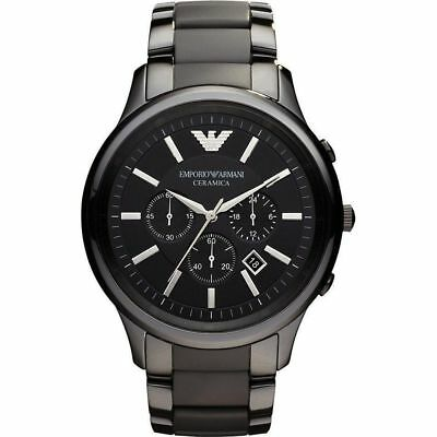 *new* Original Emporio Armani Men's Watch Ar1451 Black Ceramica Certificate