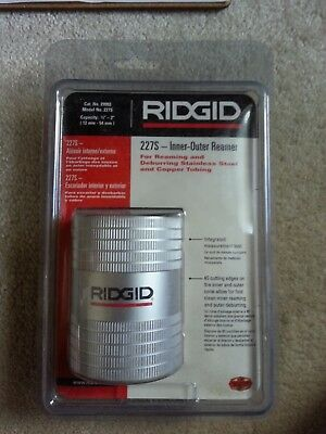 RIGID 227S Inner - Outer Reamer 29993 1/2 in - 2 in ( 12mm - 54 mm ) NEW SEALED