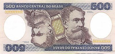 Brazil 500 Cruzeiros ND. 1981 P 200a circulated Banknote