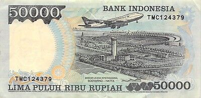 Indonesia 50,000 Rupiah 1998 P 136d Series TMC Circulated Banknote SP518