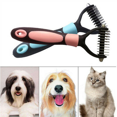1Pc Pet Dog Cat Hair Fur Shedding Trimmer Grooming Rake Comb Brush Tools LR