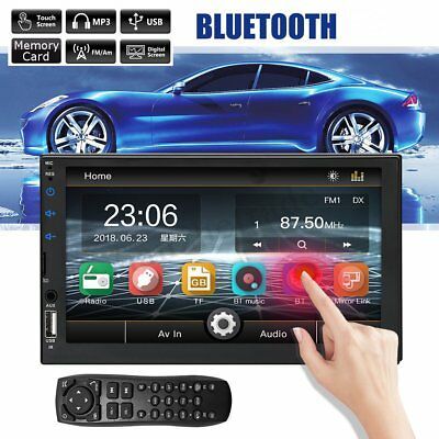 7'' Inches Double 2 DIN Car Radio Stereo MP5 Player BT FM For Android Phone