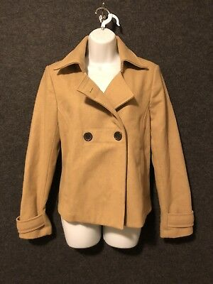 9baf62b84f0e OLD NAVY WOOL Blend Pea Coat Girls Size S 7 8 Gray Double Button ...