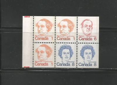 CARICATURE  BOOKLET PANE OF 6   # 586a   LF