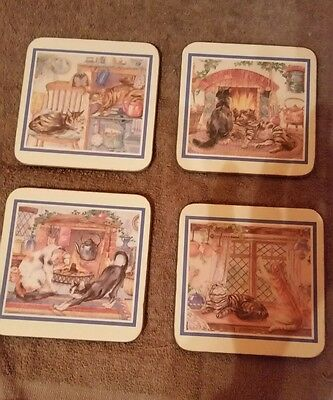 Set of 4 Royal Table Coasters (Kitchen Cats) New Old Stock