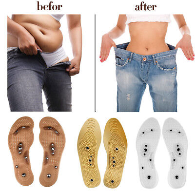 1Pair Women Men MindInSole Weight Loss Magnetic Therapy Magnetic Massage Insoles