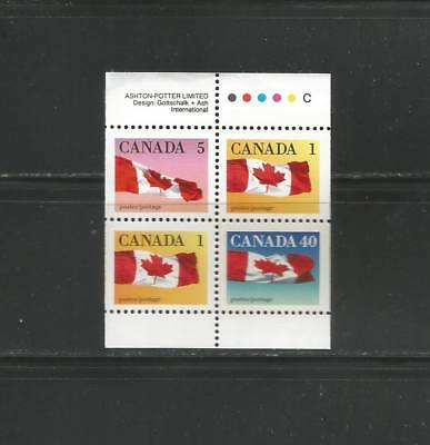 FLAG BOOKLET PANE OF  4    #  1190a  MNH