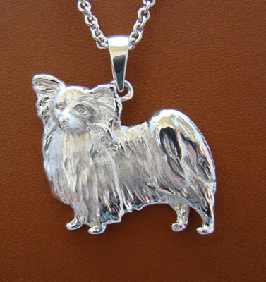 Large Sterling Silver Papillon Standing Study Pendant