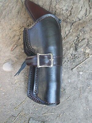 D.A.D CUSTOM LEATHER Plain Leather Western Holster Cross Draw Brown or Black