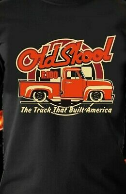 FORD F100 OLD SKOOL The Truck that Built America CLASSIC Retro VINTAGE TSHIRT