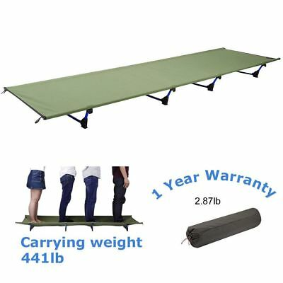 Folding Camping Bed Portable Cot Military Outdoor Hiking Travel Sleeping Bed WX