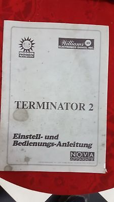 Flipper Manual Bedienungsanleitung TERMINATOR 2 orginal