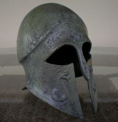 madieval Greek Spartan Corinthian Helmet With Snakes  Antique Style Reproduction