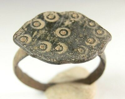 Lovely Ancient Celtic Bronze Ring 300-100 B.c.