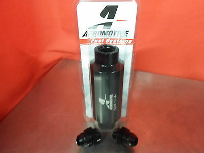 Aeromotive Racing 12324 100 Micron ORB-10 Schwarz Benzin Filter mit 10-AN