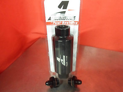 Aeromotive Racing 12324 100 Micron ORB-10 Schwarz Benzin Filter mit 6-AN