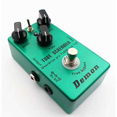 Hand-made TS9 TS808 Overdrive/Distortion Tube Screamer 2 In 1 True Bypass Green