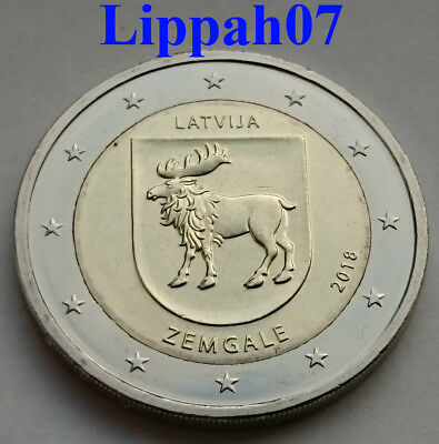 Letland speciale 2 euro 2018 Zemgale UNC