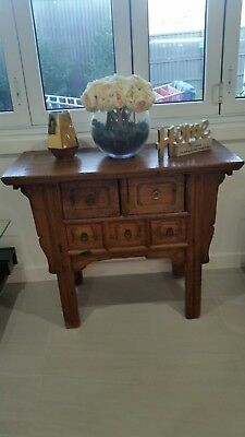 Antique Timber Cabinet 5 Drawers