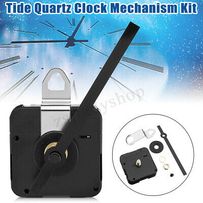 Black Silent Tide Quartz Clock Movement Motor Mechanism Spindle Hands Repair Kit