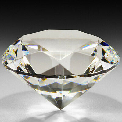 30-100MM Crystal Clear Giant Glass Diamond Paperweight Faceted Cut Jewelry Craft