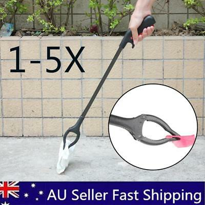 5x Garbage Pick Up Tool Grabber Reacher Stick Reaching Grab Claw Grip AU