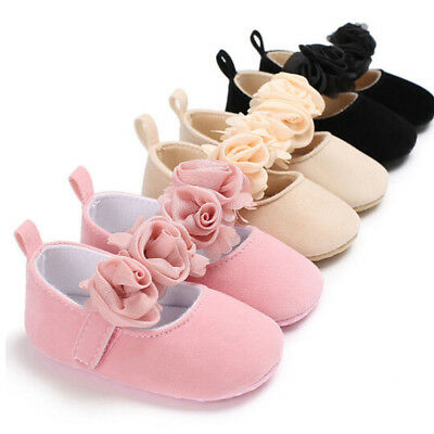 Newborn Baby Toddler Girl Crib Shoes Pram Soft Sole Prewalker Anti-slip Sneakers