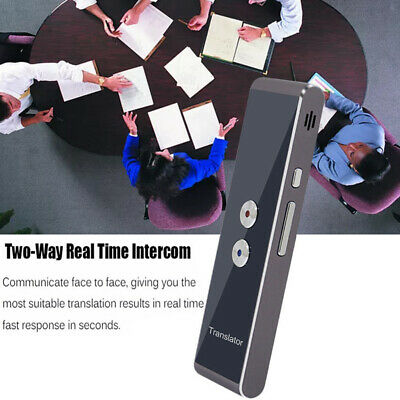 Portable Wireless Smart Voice Translator Two-Way Real Time 30 Languages Learning