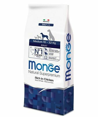 Monge Superpremium Medium Adult Pollo 12 kg Prezzo Top