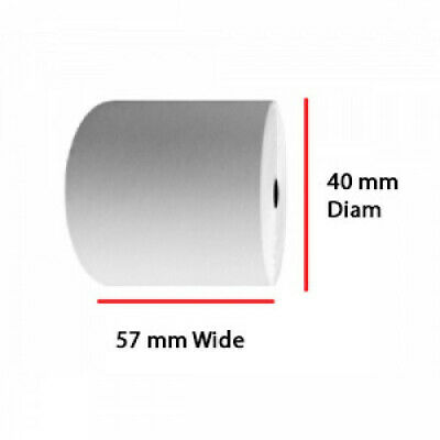 57mm x 40mm Thermal Paper Printer Receipt Till Rolls - Free Next Day Delivery!!