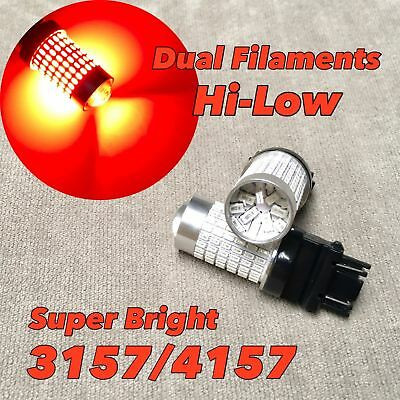 Front Turn Signal Parking Light RED SMD LED Bulb T25 3057 3157 4157 SRCK W1 FA