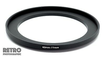 62mm to 77mm 62-77mm Step-Up Stepping Ring Filter Adapter - UK Stock