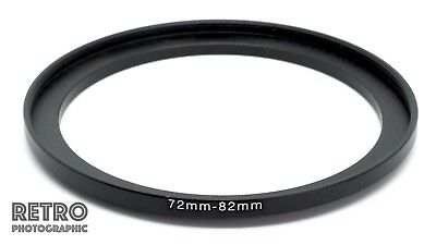 72mm to 82mm 72-82mm Step-Up Stepping Ring Filter Adapter - UK Stock