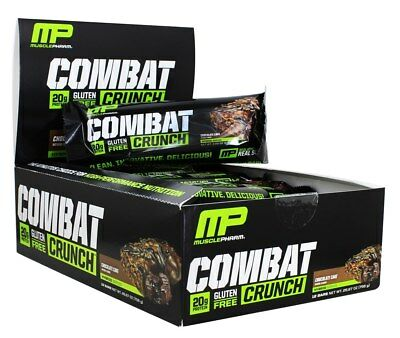 MUSCLEPHARM COMBAT CRUNCH Protein Bar Birthday Cake 12 Bars