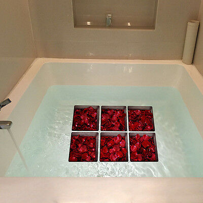 1Set Rose Wave Shower Bathtub Non-slip Safety Stickers Adhesive Applique Tapesuk