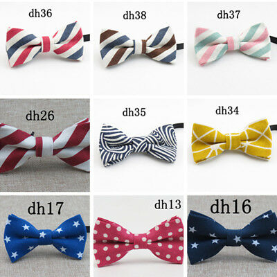 Boys Children kids Solid Bowtie Pre tied Wedding Party bow tie Size 10*5.5